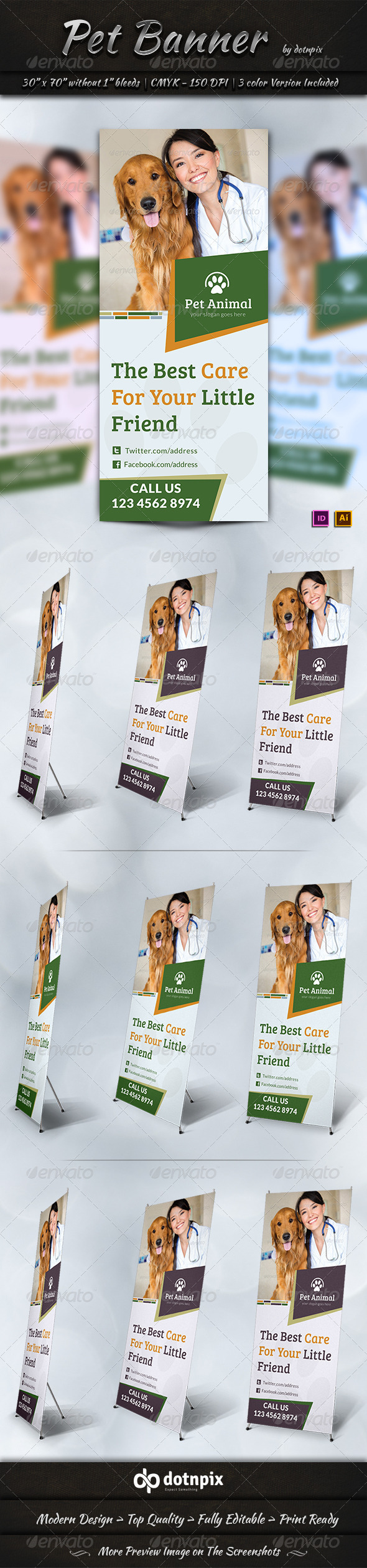 GraphicRiver Pet Banner Template 7345789