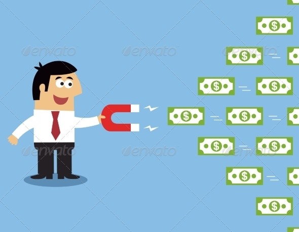GraphicRiver Employee Money Magnet 7345931
