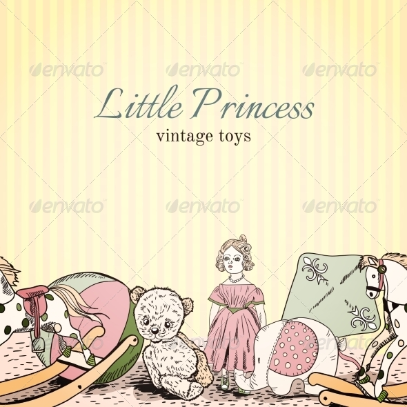 GraphicRiver Vintage Toys Shop Leaflet 7345955