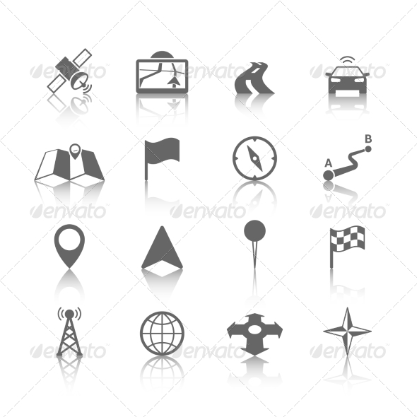 GraphicRiver Navigation Icon Set 7345972