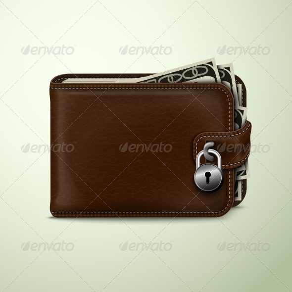 GraphicRiver Wallet Locked with Padlock 7345981