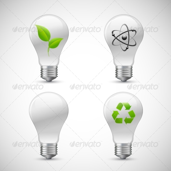 GraphicRiver Lightbulb Eco Science Icons Set 7346036