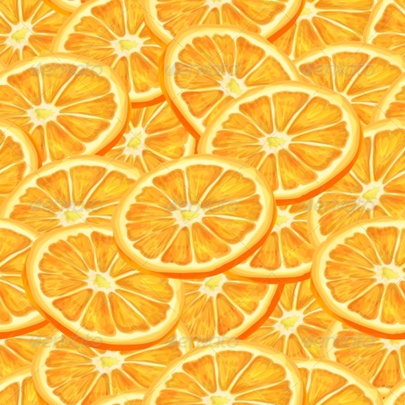 GraphicRiver Sliced Orange Seamless Background 7346043