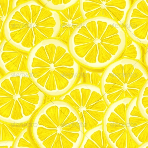 GraphicRiver Sliced Lemon Seamless Background 7346045