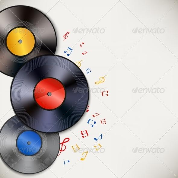 GraphicRiver Vinyl Record Background 7346139