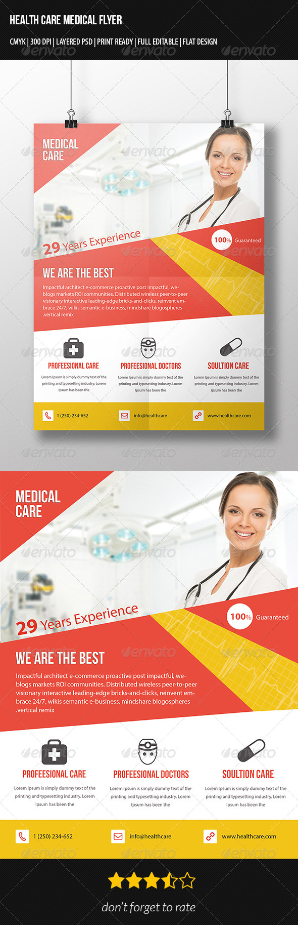 GraphicRiver Corporate Health Care Flyer 7346179