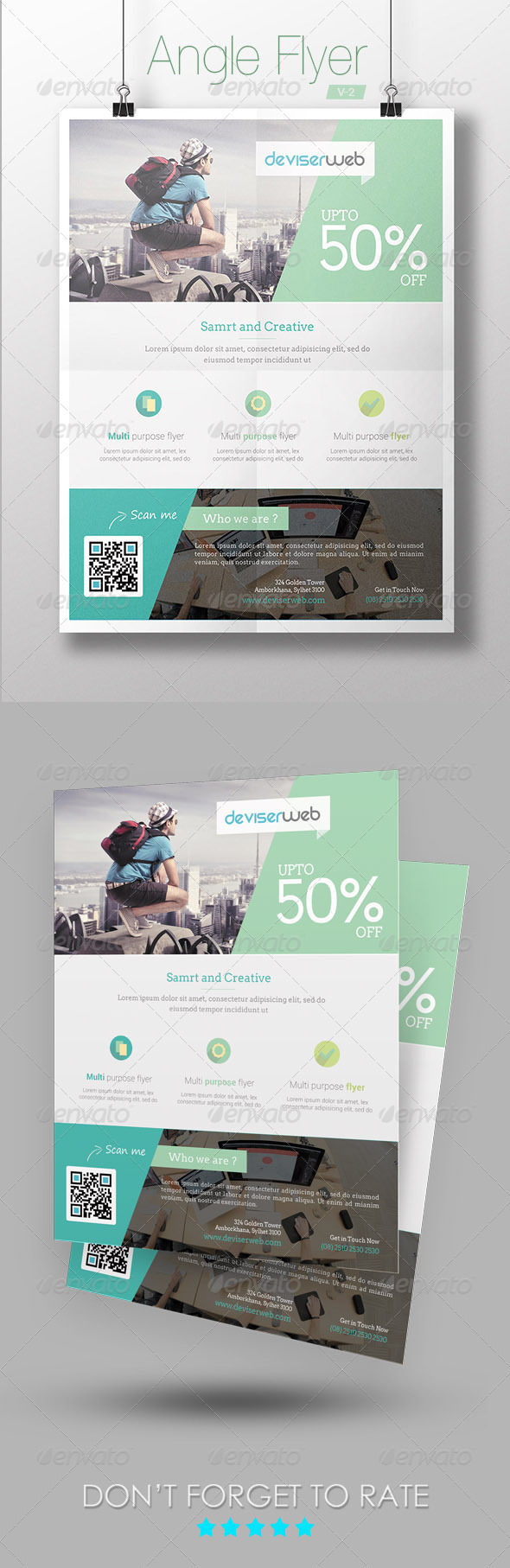GraphicRiver Angle Modern Flyer 7346272