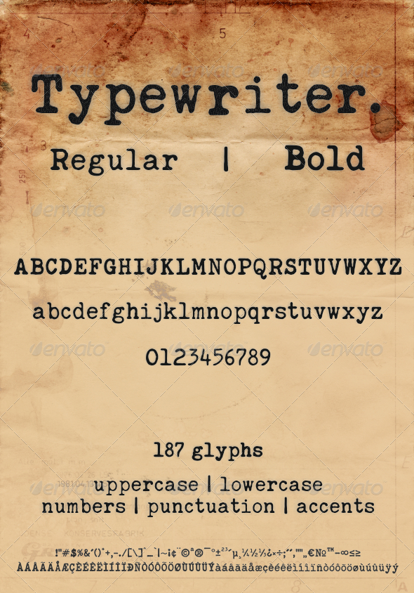 GraphicRiver Typewriter 7346619