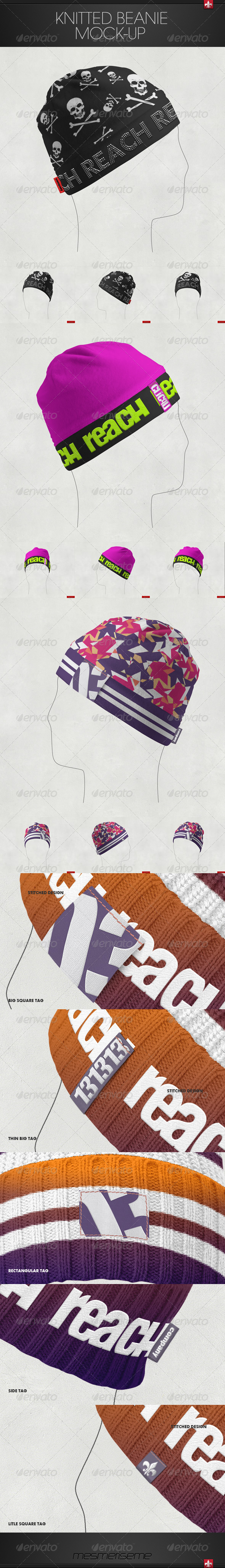 GraphicRiver Fleece Beanie Mock-up 7346627