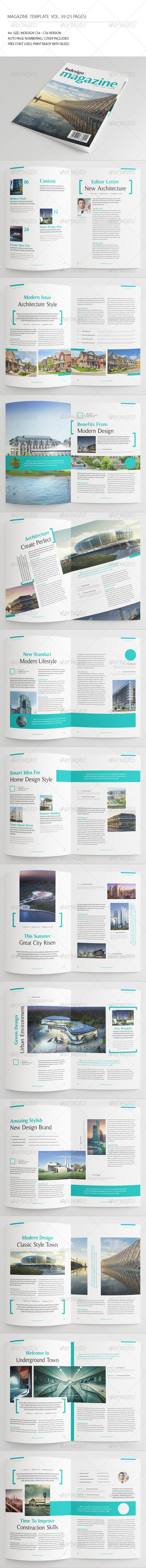 GraphicRiver 25 Pages Architecture Magazine Vol39 7346640