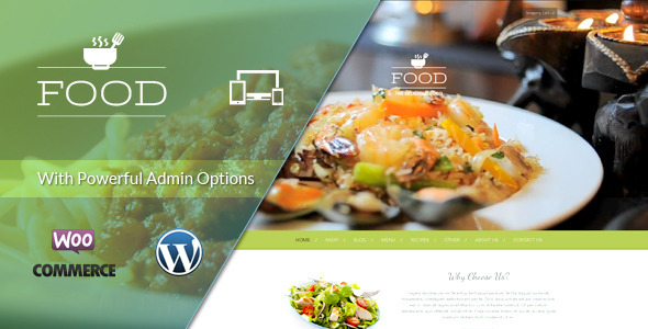 ThemeForest Food A Delicious Wordpress Theme 7346648