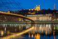 View of Saone river at Lyon by night - PhotoDune Item for Sale