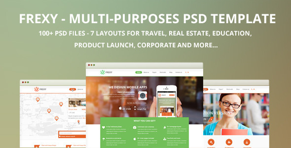 ThemeForest Frexy-Multi-purposes PSD template 7202072