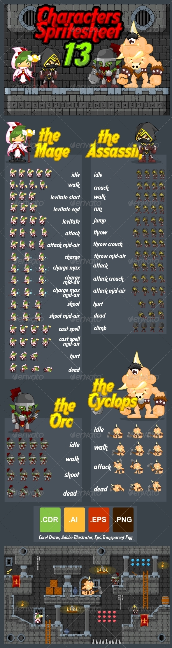 GraphicRiver Characters Spritesheet 13 7346771