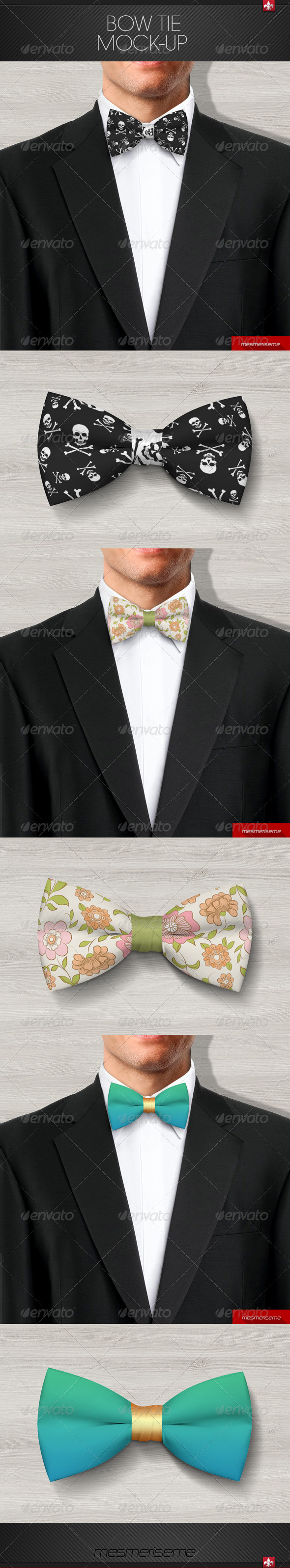 GraphicRiver Bow Tie Mock-up 7347170