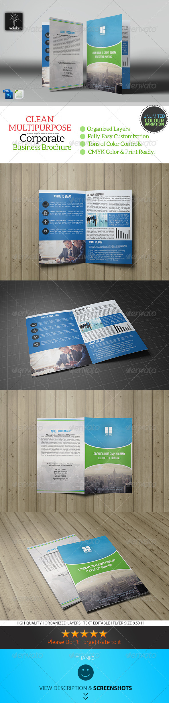 GraphicRiver Business Brochure Bifold Template Vol04 7347217