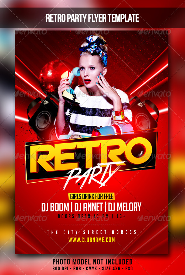 GraphicRiver Retro Party Flyer 7347295