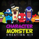 Character Monster Creation Kit v1.0 - GraphicRiver Item for Sale