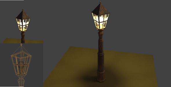 3DOcean Old Rusty Street Lantern 7347358