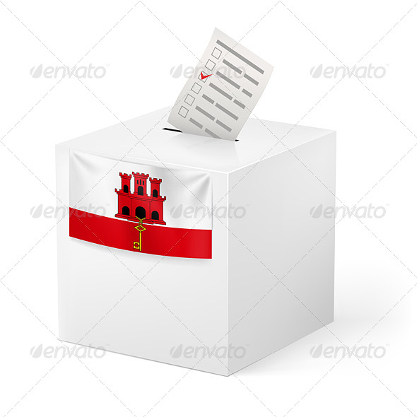 GraphicRiver Ballot Box with Voting Paper Gibraltar 7347496