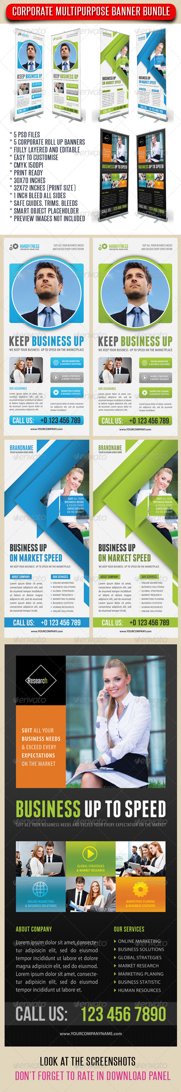 GraphicRiver 3 in 1 Corporate Rollup Banner Bundle 05 7347539