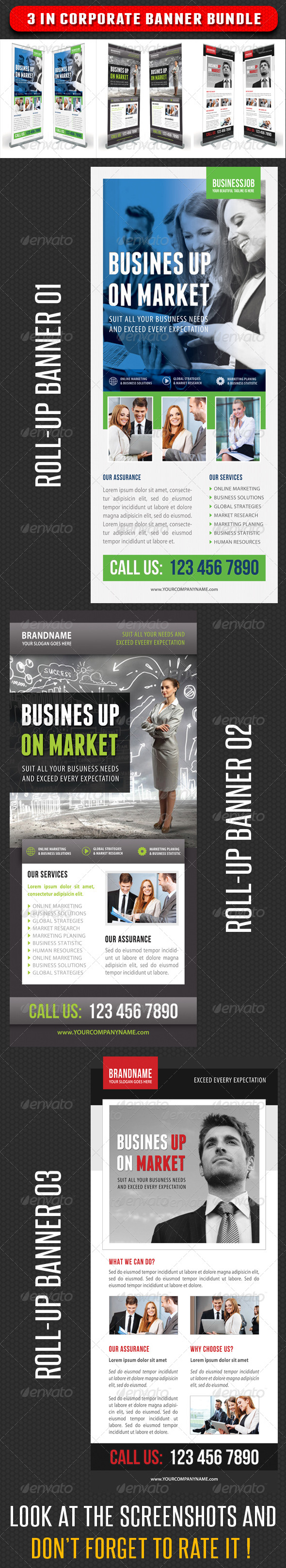 GraphicRiver 3 in 1 Corporate Rollup Banner Bundle 06 7347548