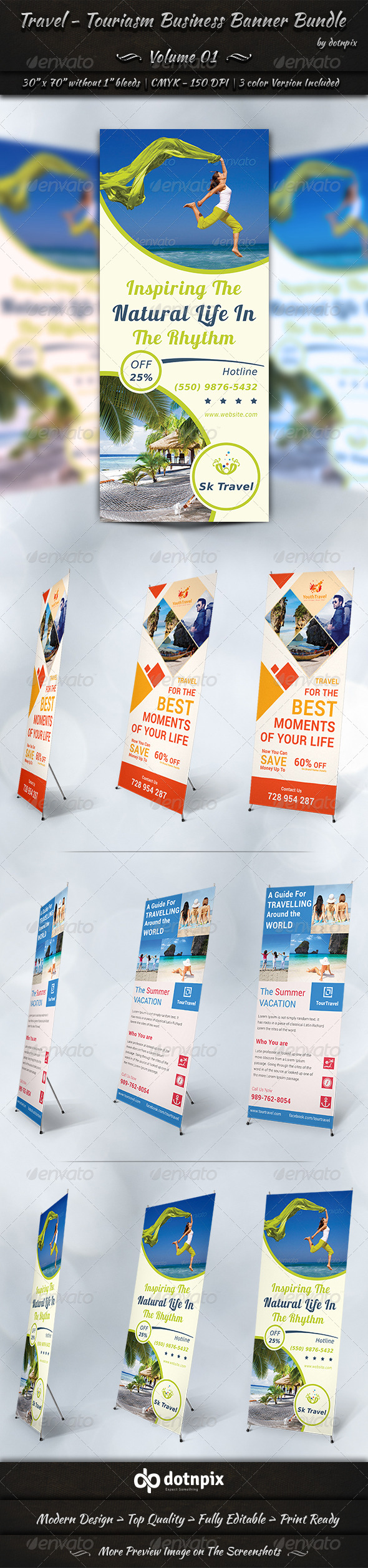 GraphicRiver Travel Tourism Business Banner Bundle Volume 1 7347553
