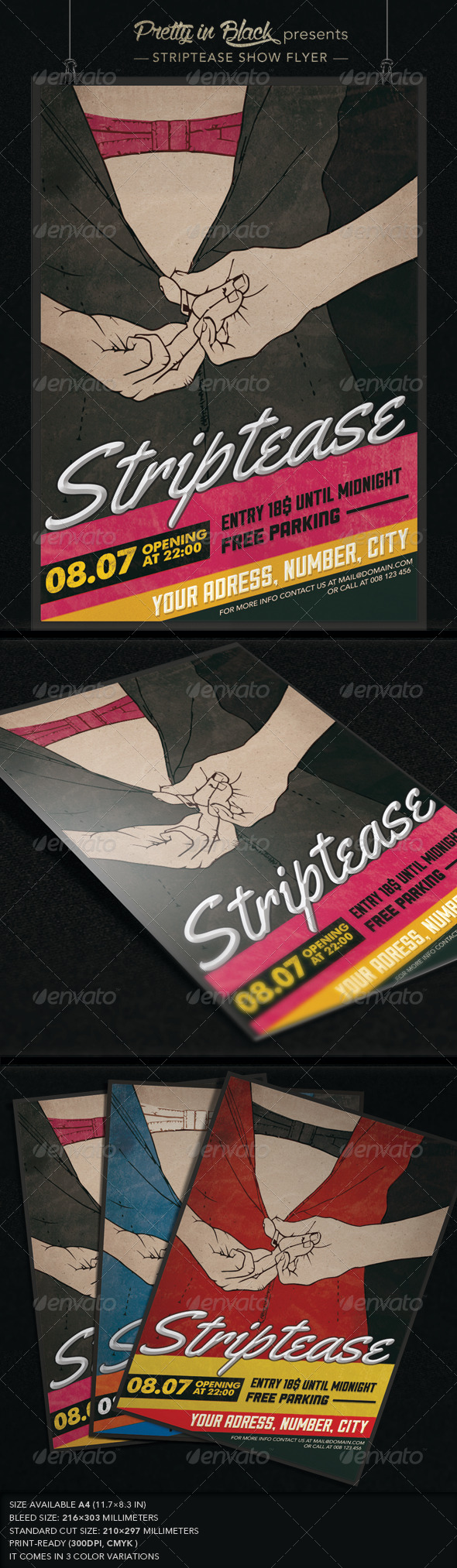 GraphicRiver Striptease Show Flyer 7341969