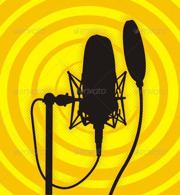 Graphic River Studio microphone Vectors -  Objects 761074