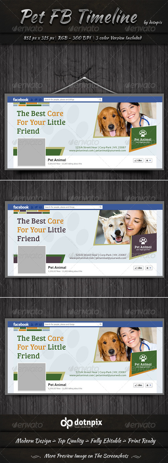 GraphicRiver Pet Facebook Timeline Cover 7347922