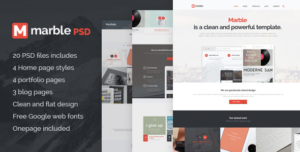 ThemeForest Marble Multipurpose PSD Template 7347971