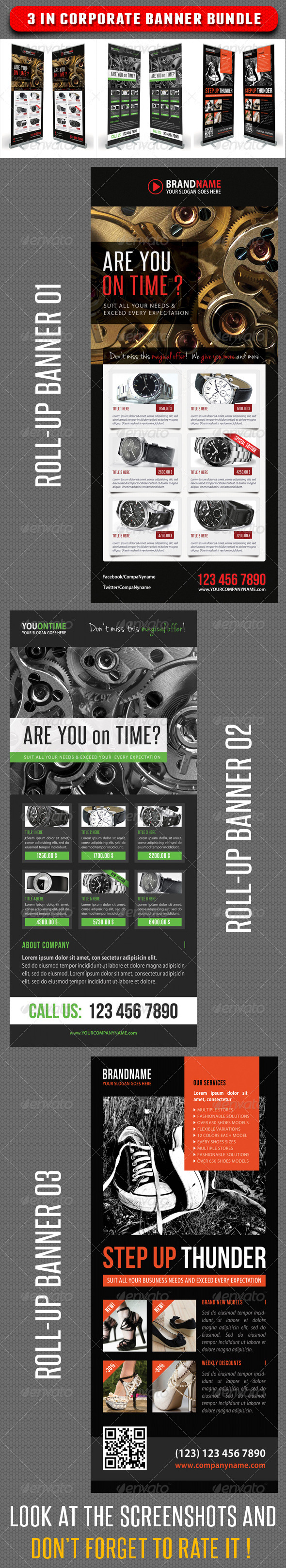 GraphicRiver 3 in 1 Corporate Rollup Banner Bunle 09 7348105