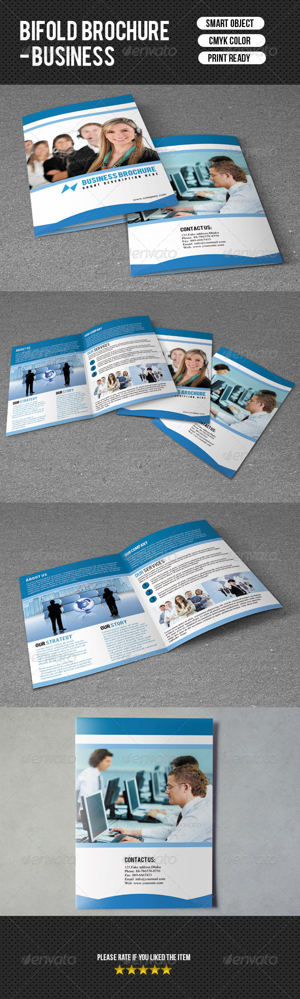 GraphicRiver Bifold Brochure-Business 7348438