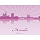 Marseilles Skyline in Purple Radiant Orchid - GraphicRiver Item for Sale