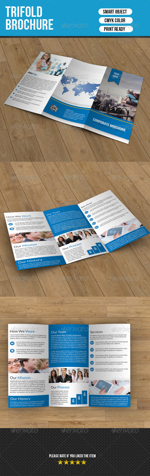 GraphicRiver Trifold Brochure- Business 7348670
