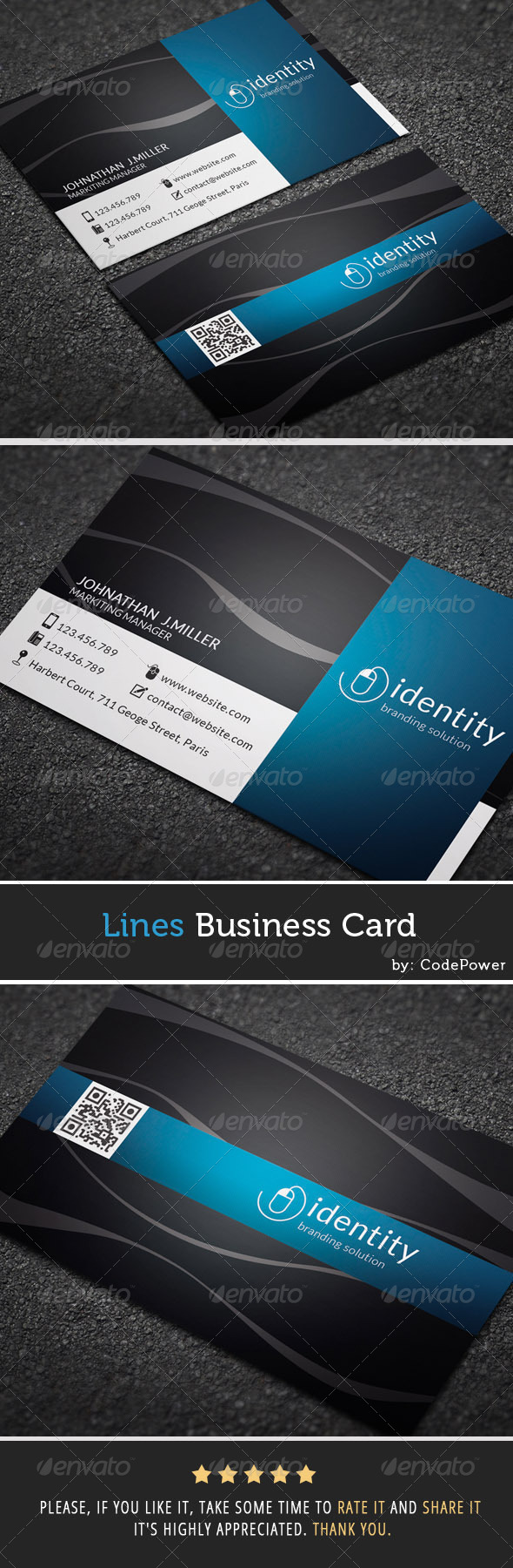 GraphicRiver Lines Business Card 7348741
