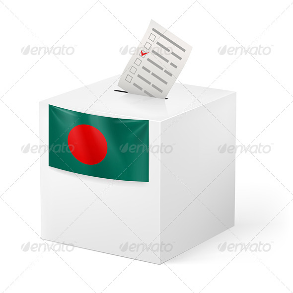 GraphicRiver Ballot Box with Voting Paper Bangladesh 7350159