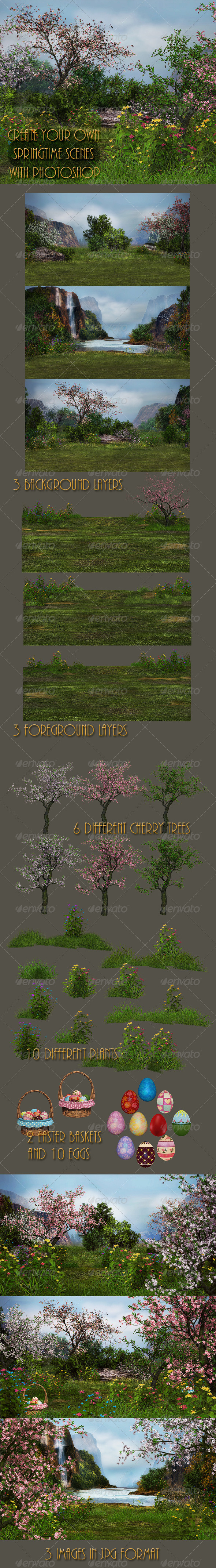 GraphicRiver Springtime in Fairytale Land 7342353