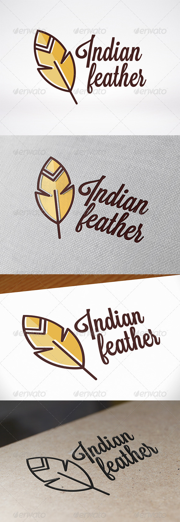 GraphicRiver Feather Logo Template 7351197