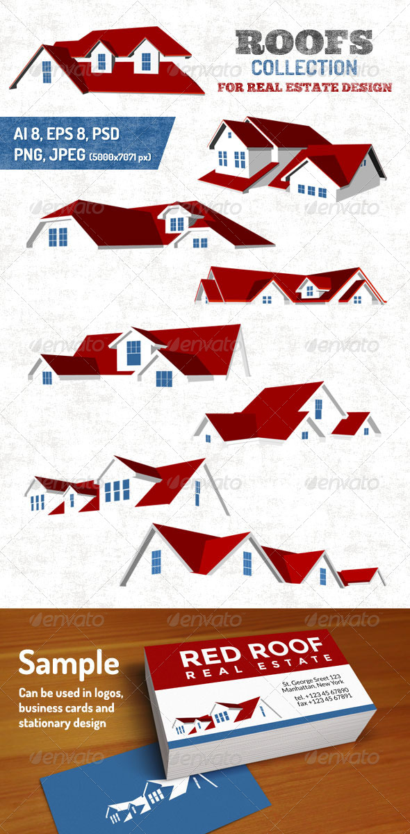 GraphicRiver Roofs Collection 7351214