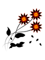 Dark flowers with falling leaves - PhotoDune Item for Sale