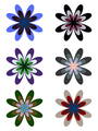 Set of lovely colored flowers - PhotoDune Item for Sale