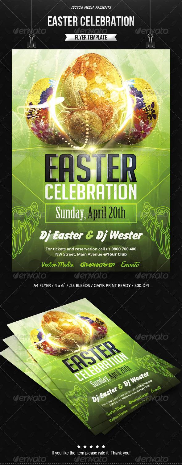 GraphicRiver Easter Celebration Flyer 7351362