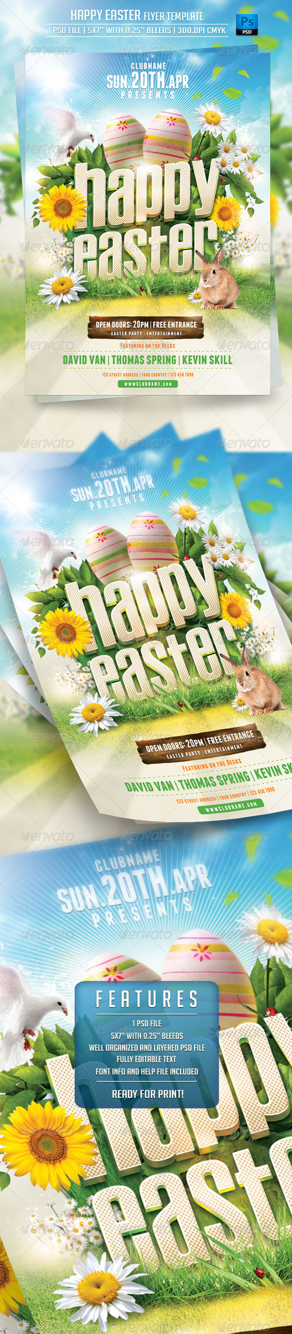 GraphicRiver Happy Easter Flyer Template 7351364