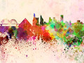 Memphis skyline in watercolor background - PhotoDune Item for Sale