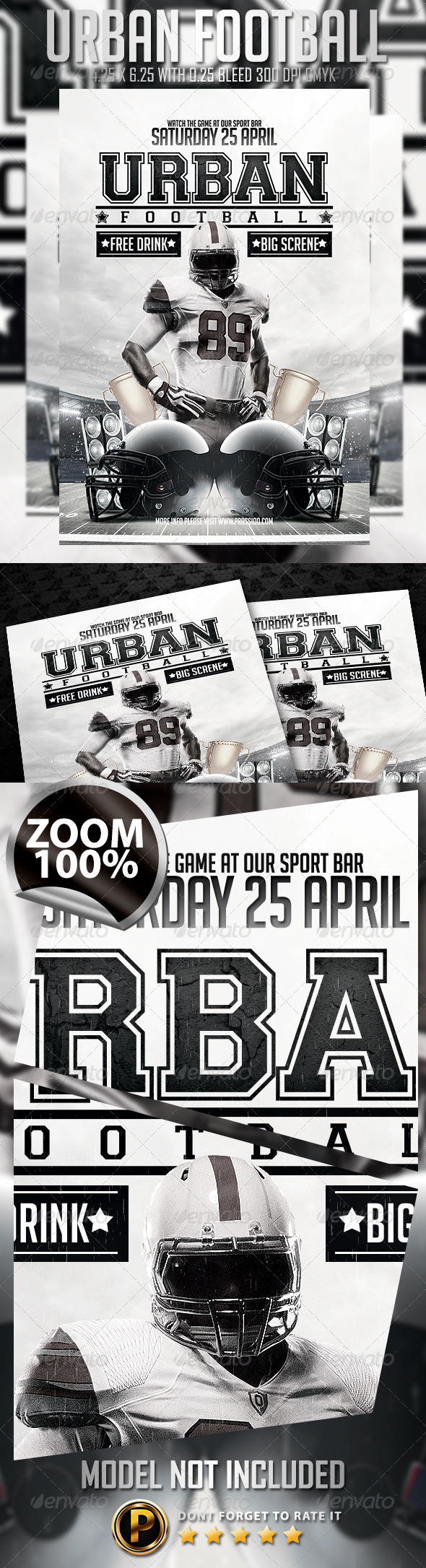 GraphicRiver Urban Football Flyer Template 7351620