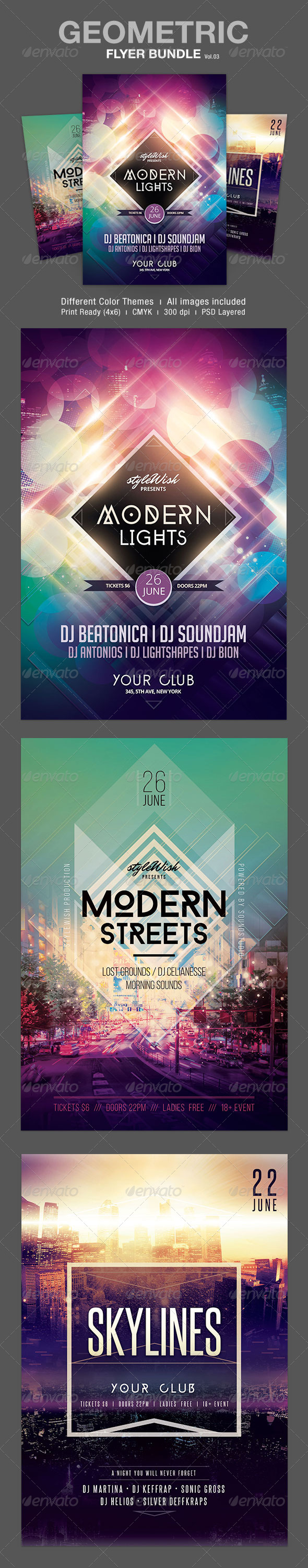 GraphicRiver Geometric Flyer Bundle Vol.03 7351655