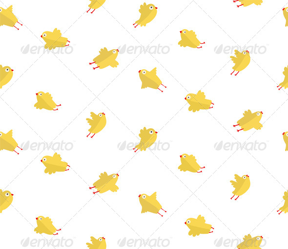 GraphicRiver Yellow Chicken Seamless Pattern 7351676