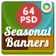 Seasonal Sale Banners - 64 Banners - GraphicRiver Item for Sale