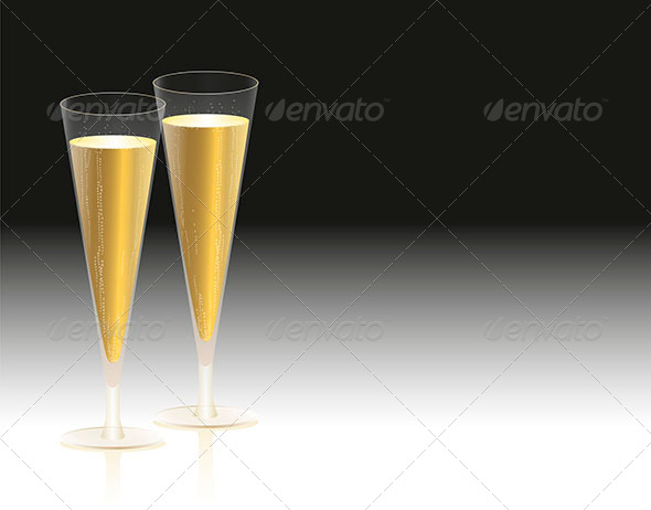 GraphicRiver Champagne Glasses 7351688